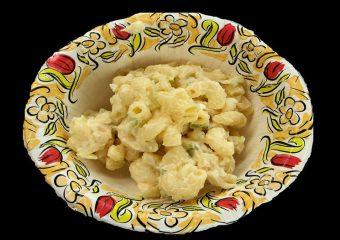 Duitse warme pastasalade
